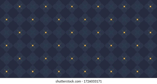 Modern masculine pattern elegant floral design. Wax print block for apparel textile, ladies dress fabric, mens shirt, fashion garment, wrapping cloth, swimwear. Minimal monochrome dim blue arrangement