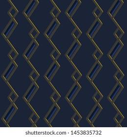 Modern masculine pattern elegant geometric design. Structured print block for apparel textile, ladies dress fabric, male scarf, shirt, fashion garment, swimwear. Minimal monochrome blue arrangement.