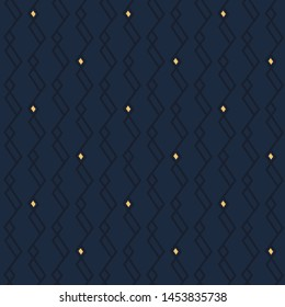 Modern masculine pattern elegant wabi sabi design. Print block for apparel textile, ladies dress fabric, mens scarf, shirt, fashion garment, swimwear. Minimal monochrome blue arrangement.