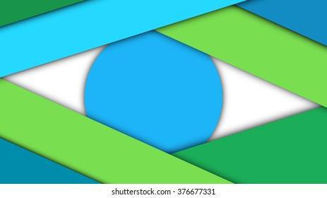 Modern material design background of paper sheets with shadows