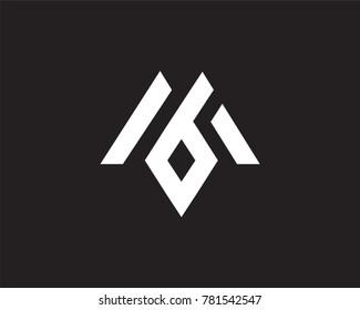 modern MB logo template, geometry lettering icon, alphabet logo. symbol or logo template
