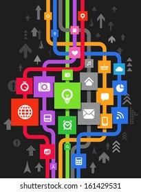 Modern media information abstract scheme