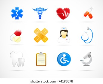 Modern medical icon set