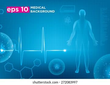 Modern medical vector template