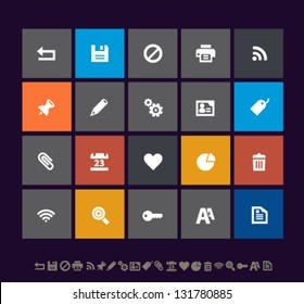 Modern metro office and web icons, set 2, for mobile devices and contemporary interfaces