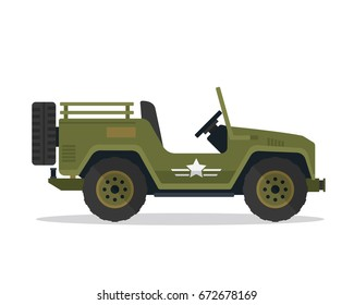 Modern Military Vehicle Illustration, Suitable For Game Asset, Icon, Infographic, and Other Military Graphic Purpose