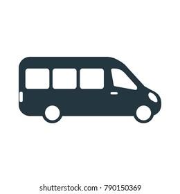Modern minibus icon vector