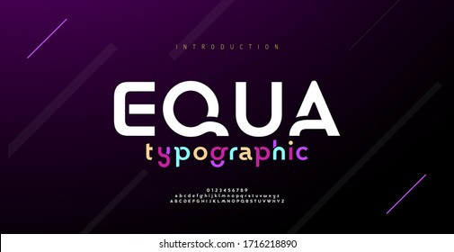 Modern minimal abstract alphabet fonts. Typography technology, electronic, movie, digital, music, future, logo creative font. vector illustration