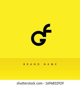 Modern Minimal and Clean GF Initial Based Solid Iconic Logo Design