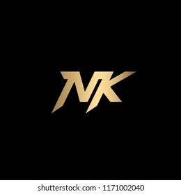 Modern Minimal and Clean NK Initial Based Solid Iconic Logo Design