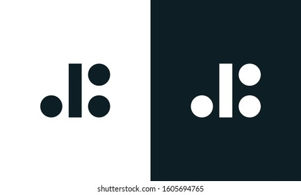 Modern minimalist abstract letter DB logo. This logo icon incorporate with letter D and B in the creative way.