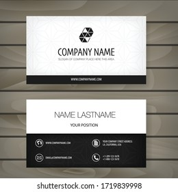 Modern minimalist business card template. Corporate Business Card Design vector simple style. Branding, stationary.