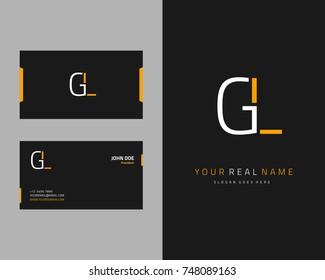 Modern minimalist initial G & L logo template vector