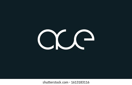 Modern minimalist line art letter ACE logo. This logo icon incorporate with three abstract circle in the creative way.