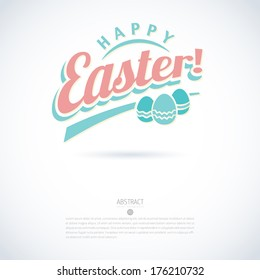 Modern minimalistic vector happy easter card