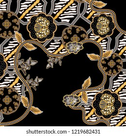 modern mixed batik with black