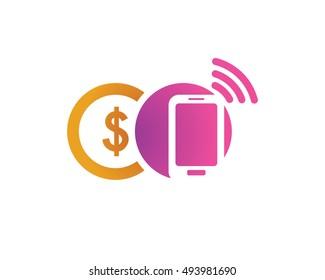 Modern Mobile Payment Logo - Mobile Money Symbol