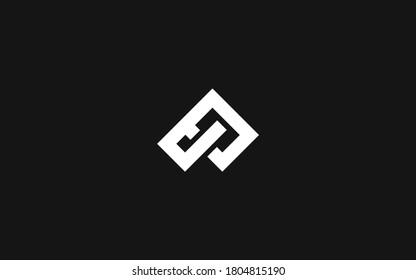 Modern monogram letter PJ or JP logotype vektor template