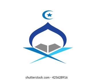 Modern Mosque Logo Symbol - Quran Night