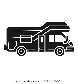 Modern motorhome icon. Simple illustration of modern motorhome vector icon for web design isolated on white background