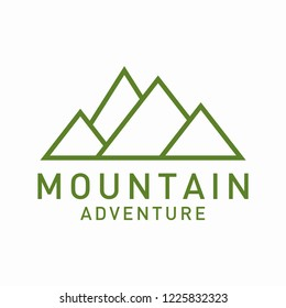 modern mountain logo illustration