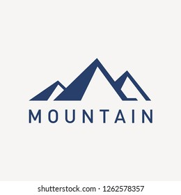 Modern mountain logo template in simple style