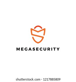 Modern MS Security Guard Logo Icon Insurance Business Protection Defend