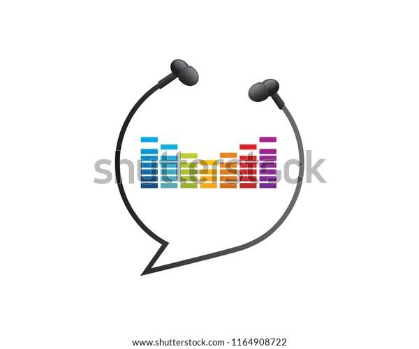 Modern Multimedia Music Social Media Speech Stock Vector