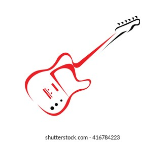 Modern Music Logo - Guitar Competition Symbol