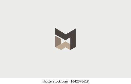 Modern MW WM logo design template