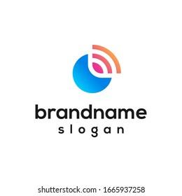 modern network logo design vector