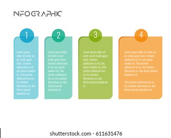 Modern new style infographics business timeline multi color box with white background. Vector. ep10