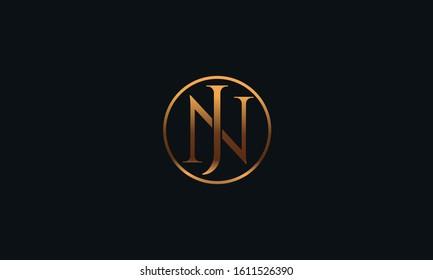 Modern NJ JN logo design template