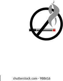 Modern NO SMOKING sign