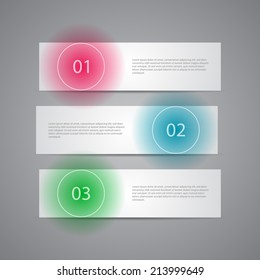Modern Numbered Banners template design.