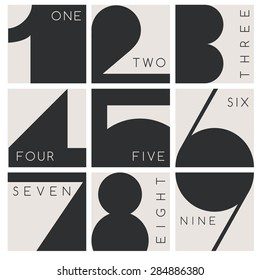 Modern Numeral Graphic : Vector Illustration