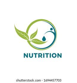 modern nutrition logo template concept