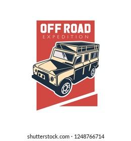 modern off road car logo template, 4WD SUV car