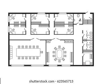 Office Floor Plan High Res Stock Images Shutterstock