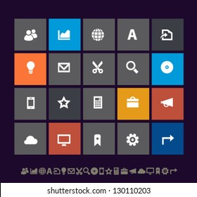 Modern office icons set 3, for mobile devices and contemporary interfaces