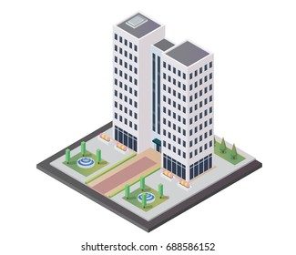 Modern Office Isometric, Suitable for Diagrams, Infographics, Illustration, And Other Graphic Related Assets