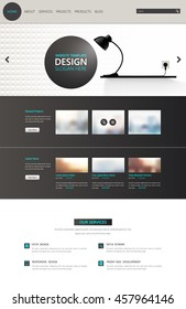 Modern One Page Website Template. Vector Eps10, Modern Web Design with flat UI elements. Ideal for Business layout.