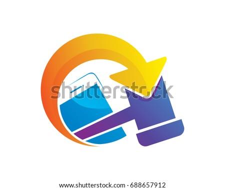fa4e1433af Modern Online Mobile Auction Logo Stock Vector (Royalty Free ...