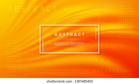 Modern orange liquid wave background. Dynamic abstract orange texture vector background. Eps10 vector illustration.