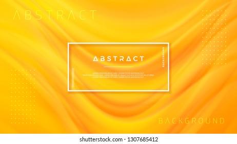 Modern orange liquid wave background. Dynamic abstract orange texture vector background. Eps10 vector illustration.