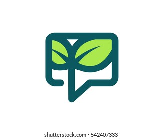 Modern Organic Green Forum Logo