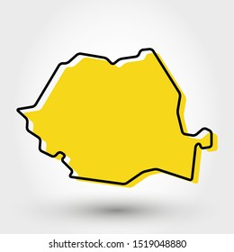 modern outline map of Romania