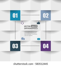 Modern paper infographics for web, banners, mobile applications, layouts etc. Vector eps10 illustration