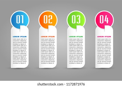 modern paper text box template for website computer graphic technology, banner Infographics, timeline