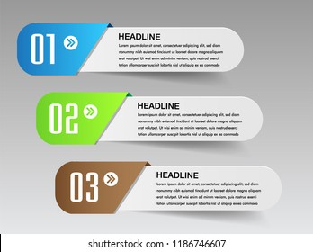 modern paper text box template for website computer graphic technology, banner Infographics